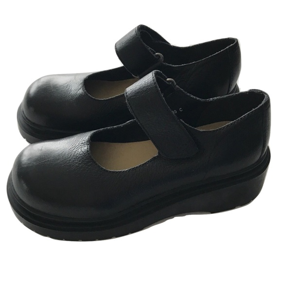 e839a443704 MIA Mary Janes Chunky Platform 90s Black leather